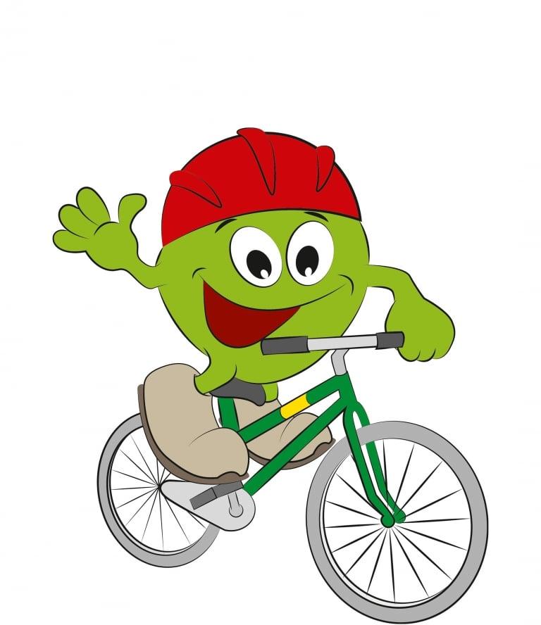 Freddy beim Radfahren