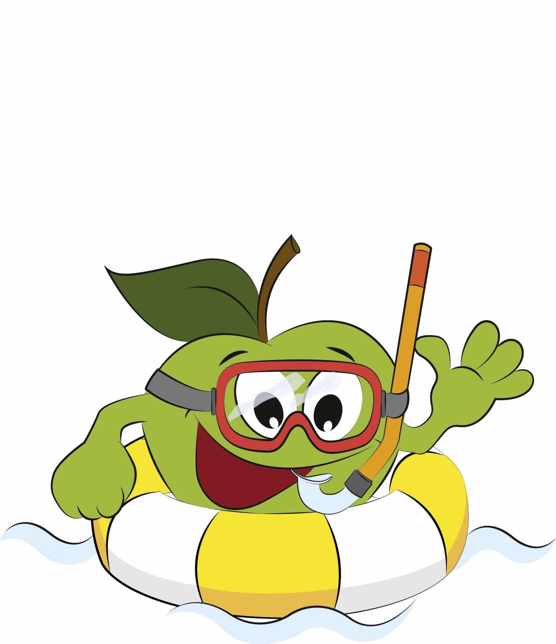 Freddy beim Schwimmen