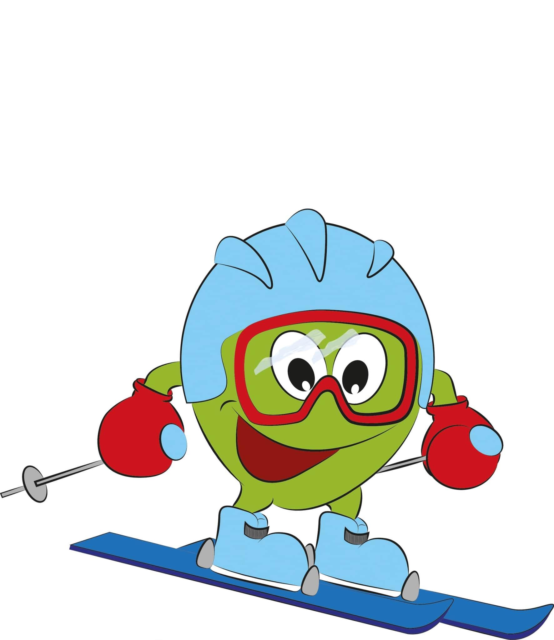 Freddy beim Skifahren
